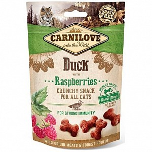 Carnilove Cat Soft Snack 50g Duck with Raspberries